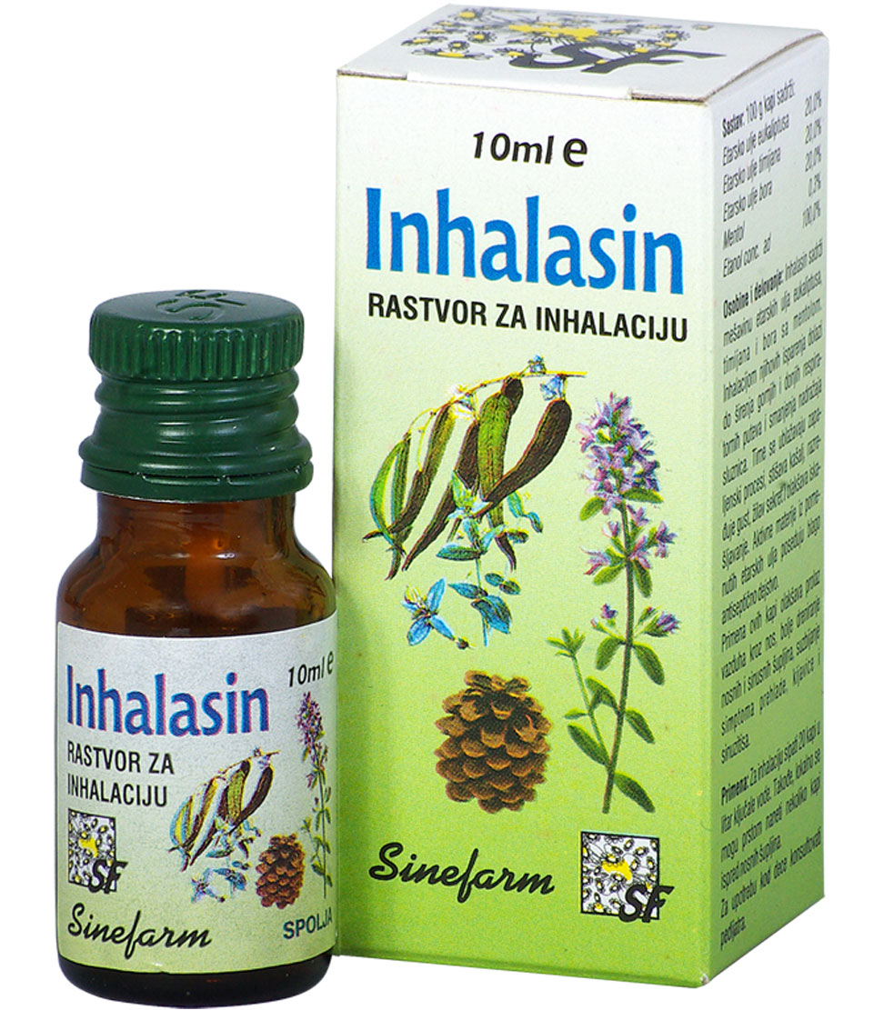 Kapi za inhalaciju-10 ml-e INHALASIN