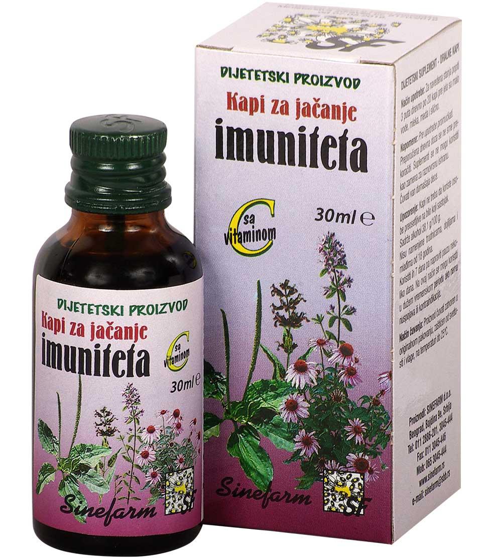 Kapi za jačanje imuniteta sa C vitaminom<br>-30 ml-e