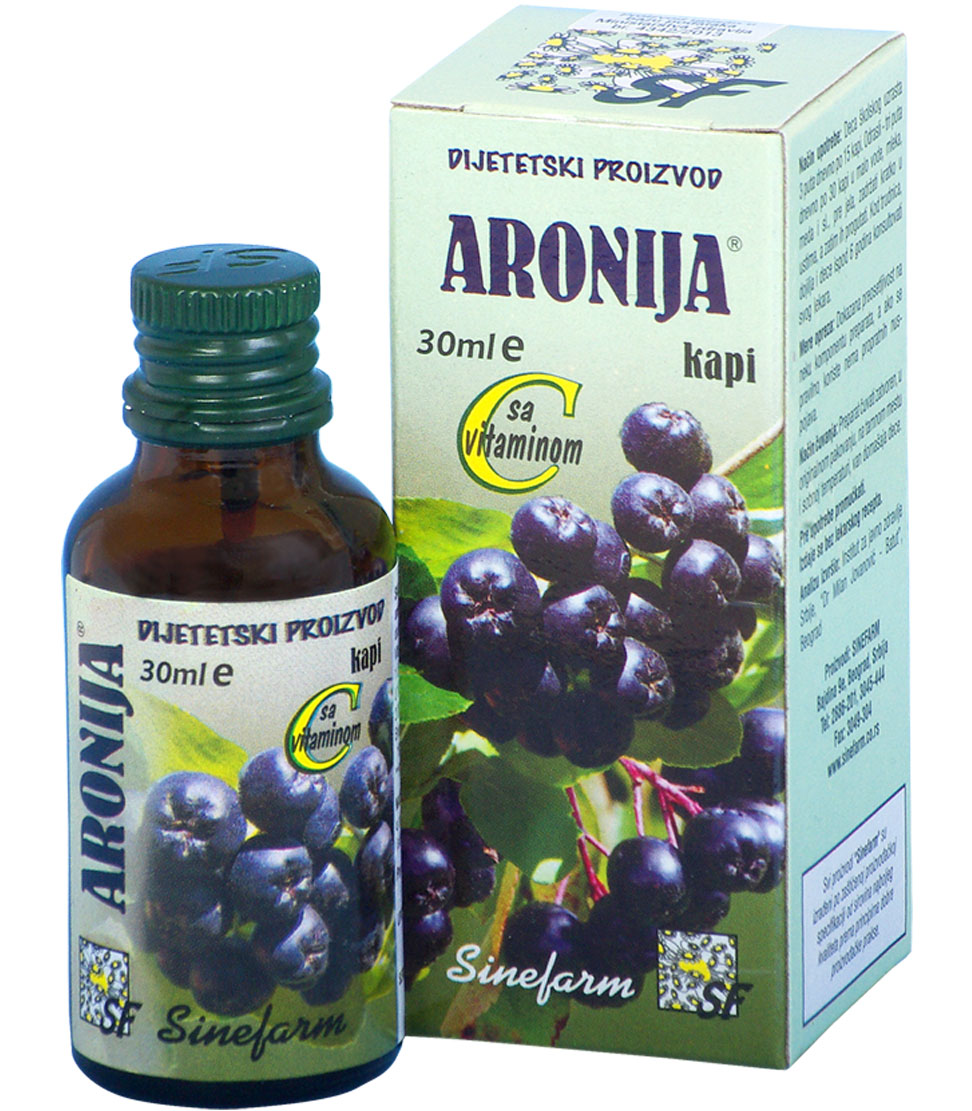 Kapi od aronije sa C vitaminom-30 ml-e