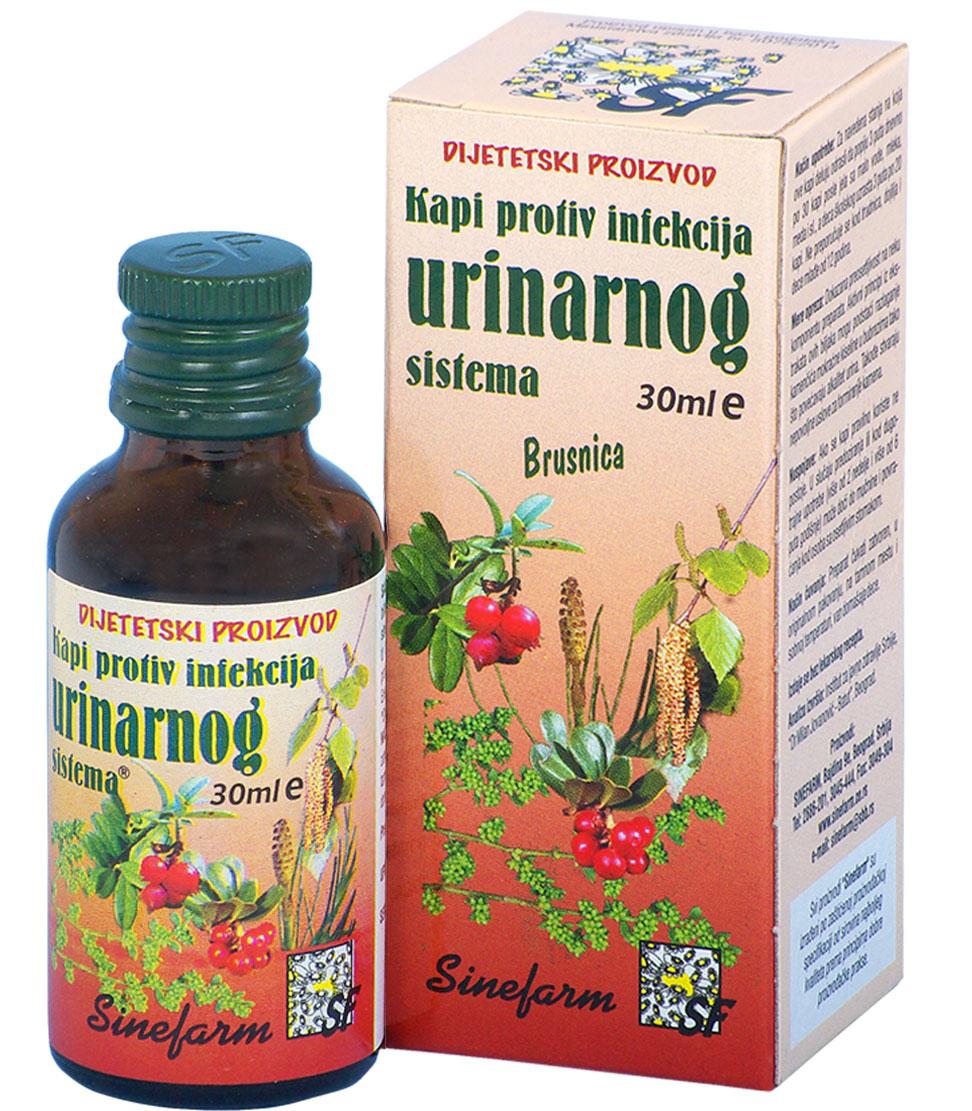 Kapi protiv infekcija urinarnog sistema<br>-30 ml-e FITO URO SEPT