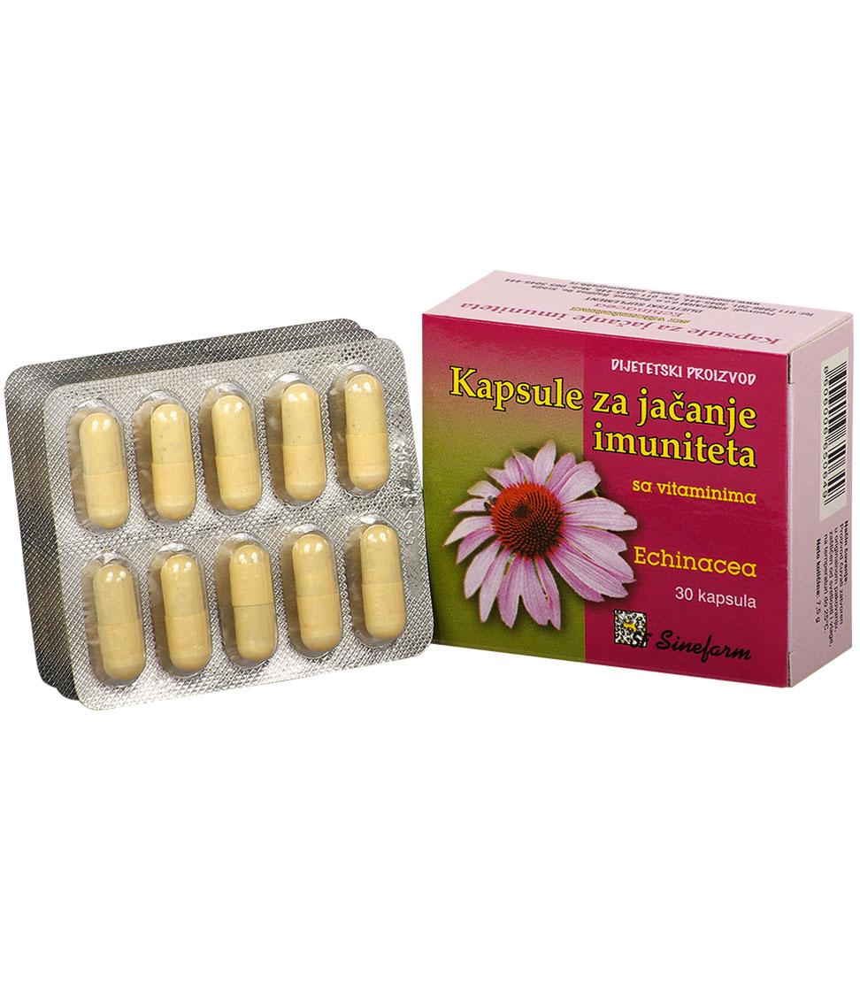 Kapsule za jačanje imuniteta sa vitaminima<br>-30 kom. EHINACEA