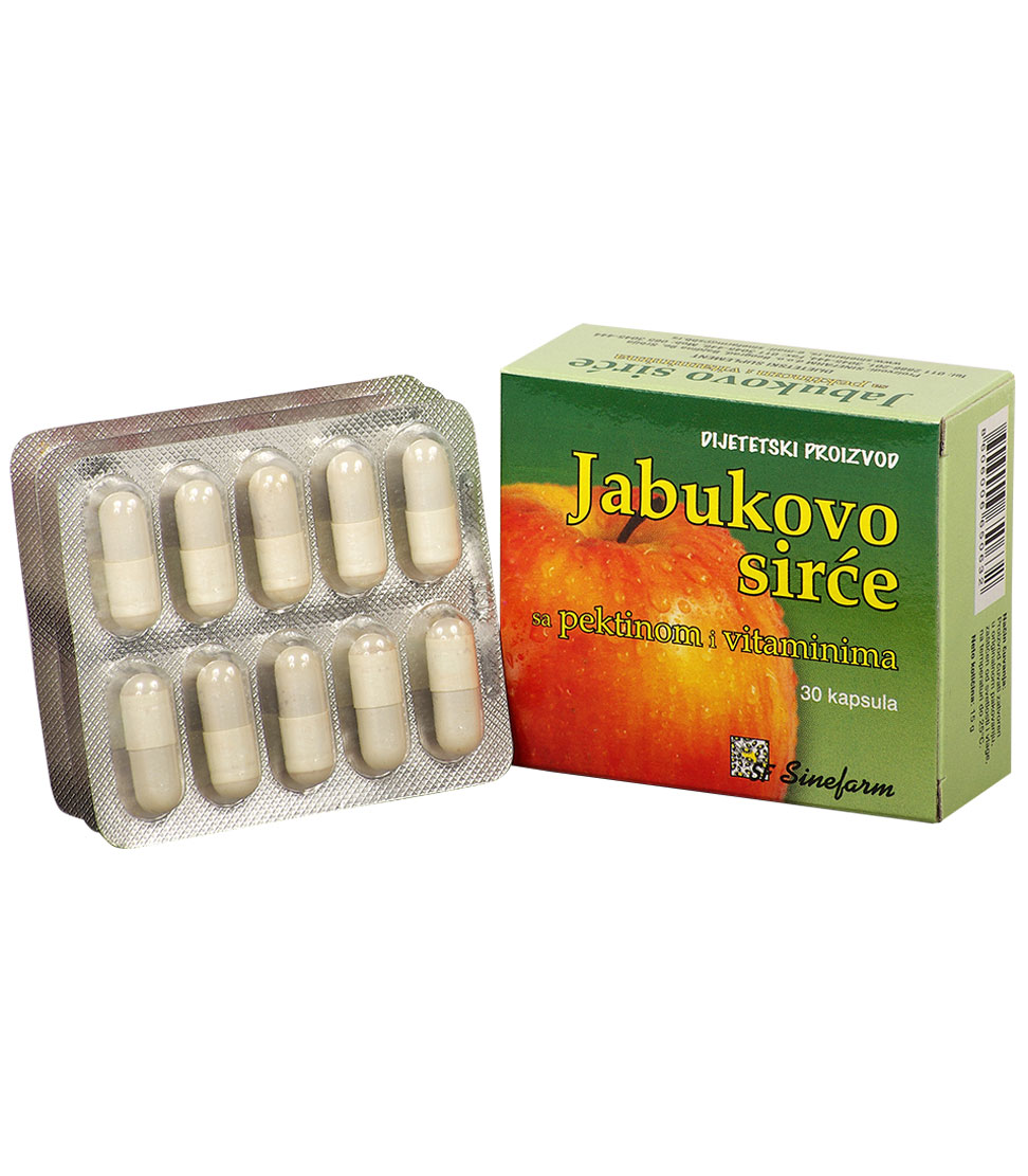 Kapsule jabukovog sirćeta sa pektinom<br> i vitaminima-30 kom.