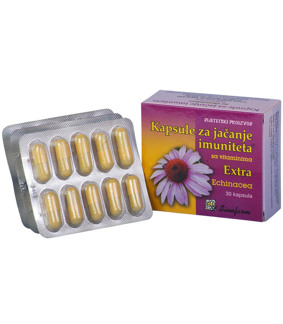 Kapsule za jačanje imuniteta sa vitaminima<br>-EXTRA-30 kom. EHINACEA