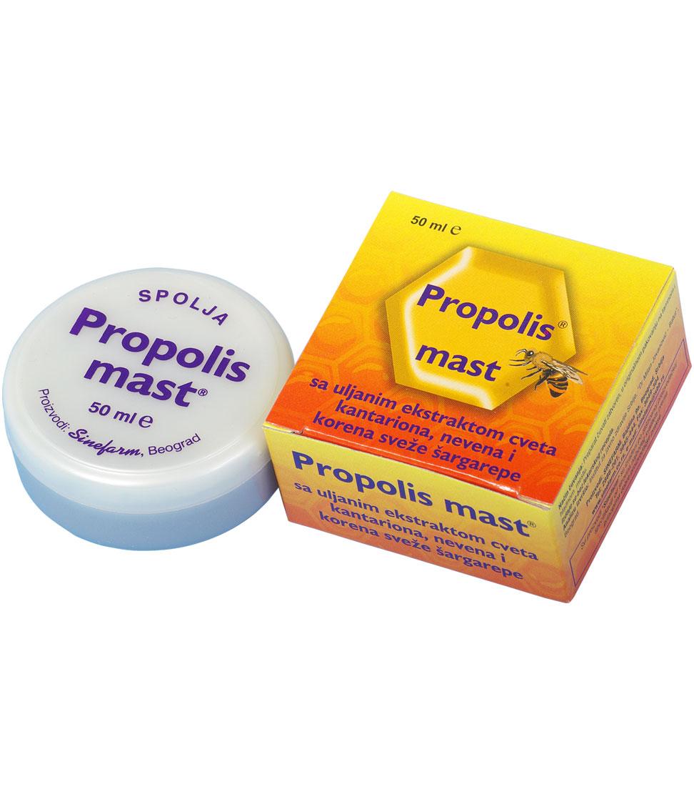 Mast sa PROPOLISOM, biljnim ekstraktima <br>i vitaminima A, D i E-50 ml-e
