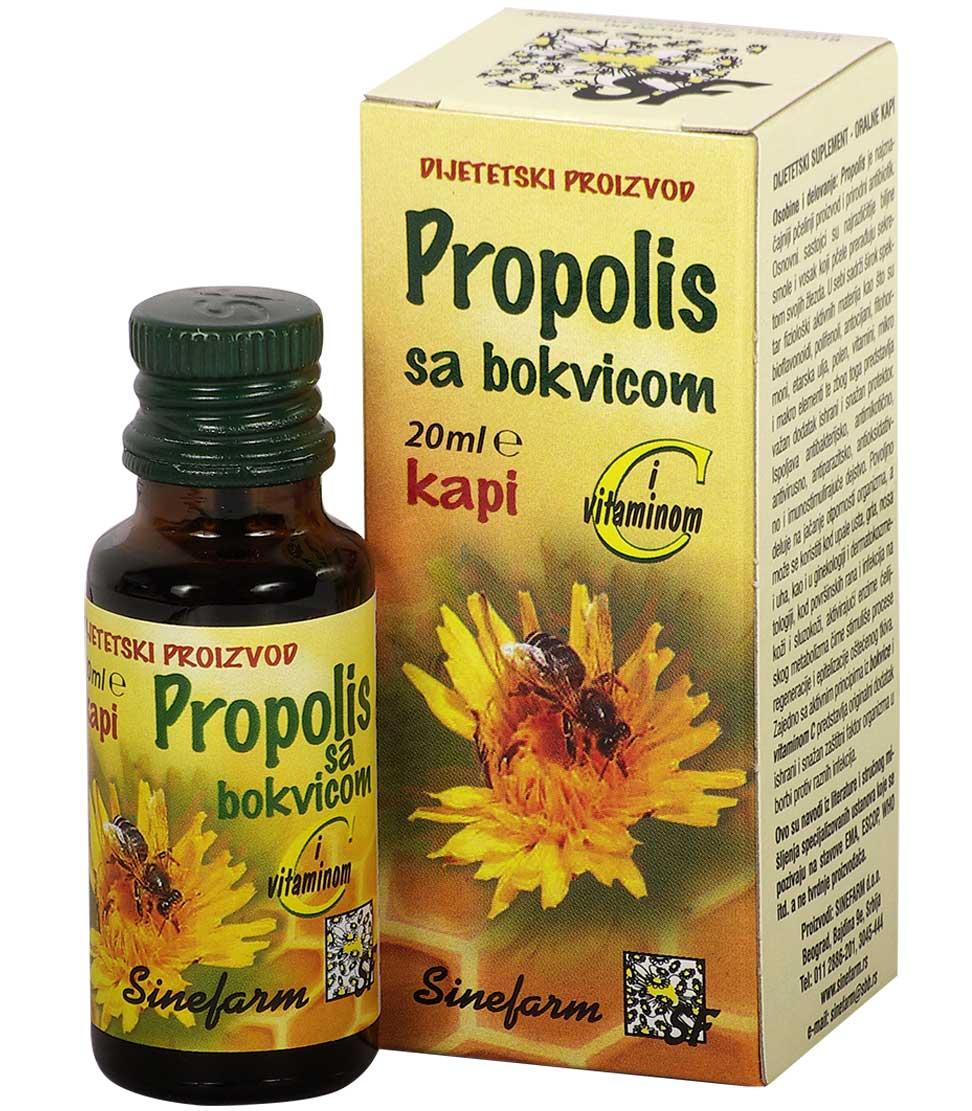 Propolis kapi sa bokvicom i C vitaminom<br>-20 ml-e