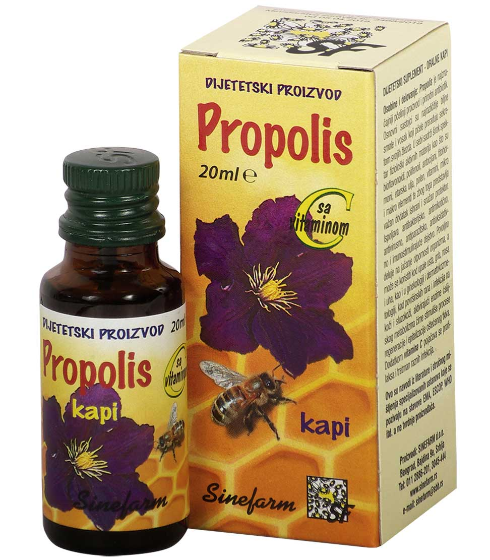 Propolis kapi sa C vitaminom-20 ml-e