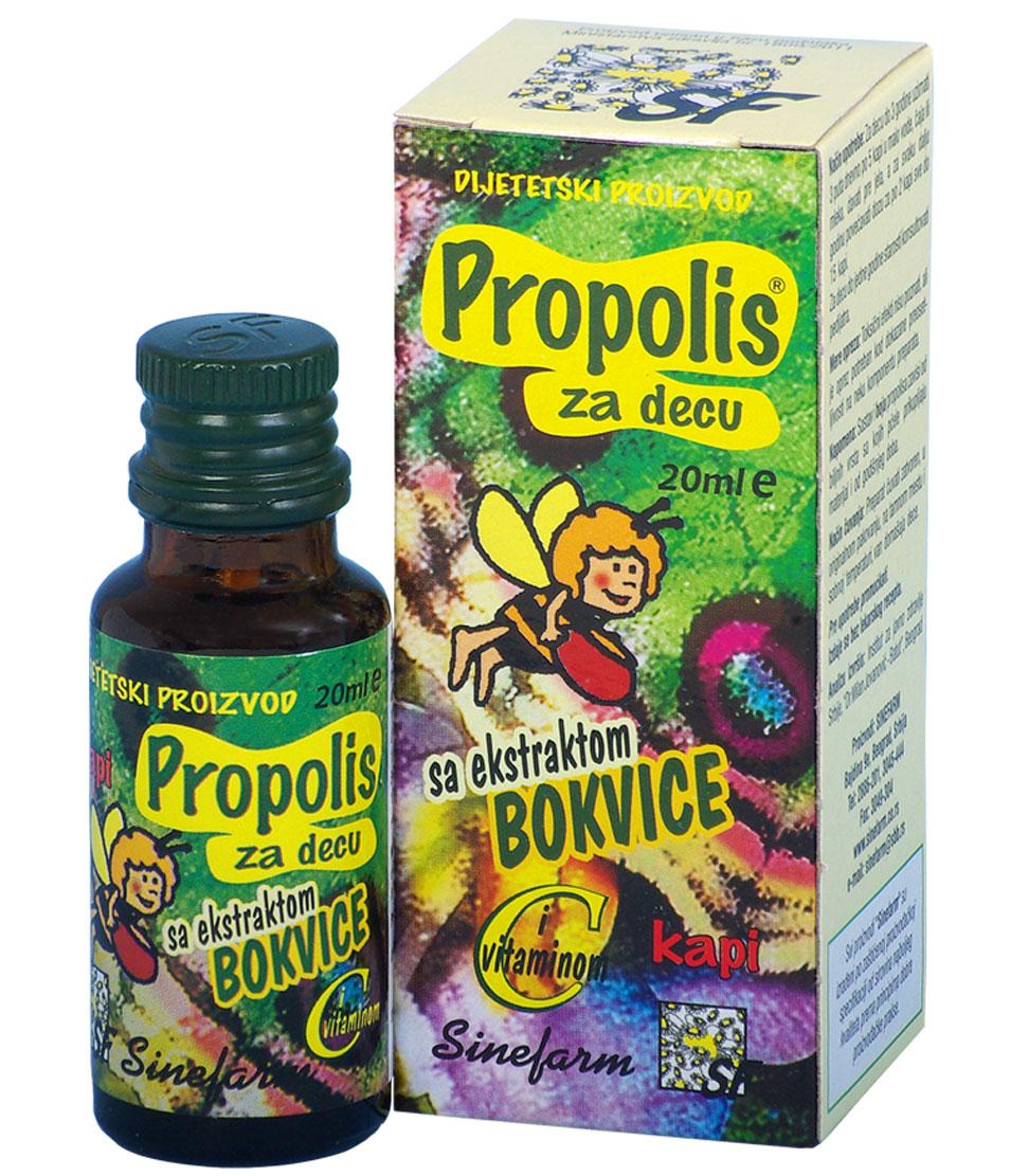 Propolis kapi za decu sa bokvicom <br>i C vitaminom-20 ml-e