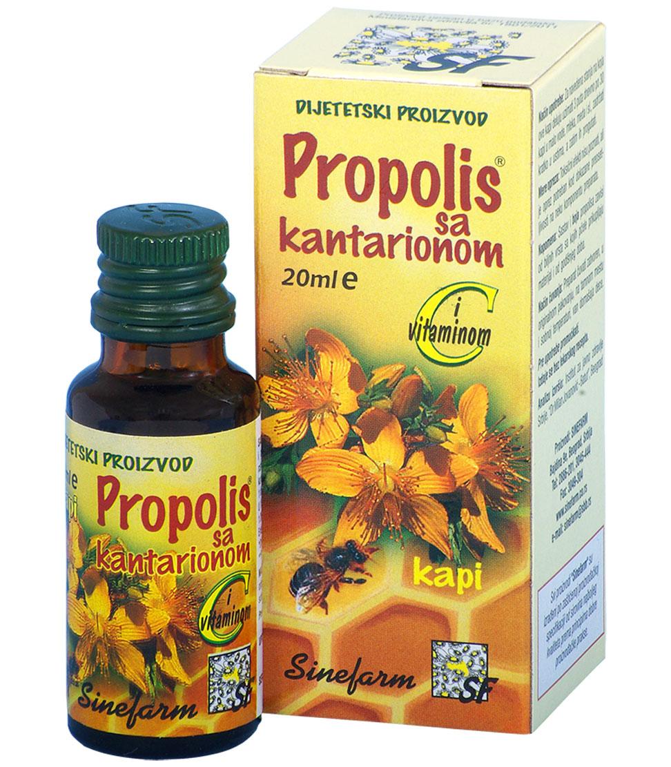 Propolis kapi sa kantarionom i C vitaminom<br>-20 ml-e