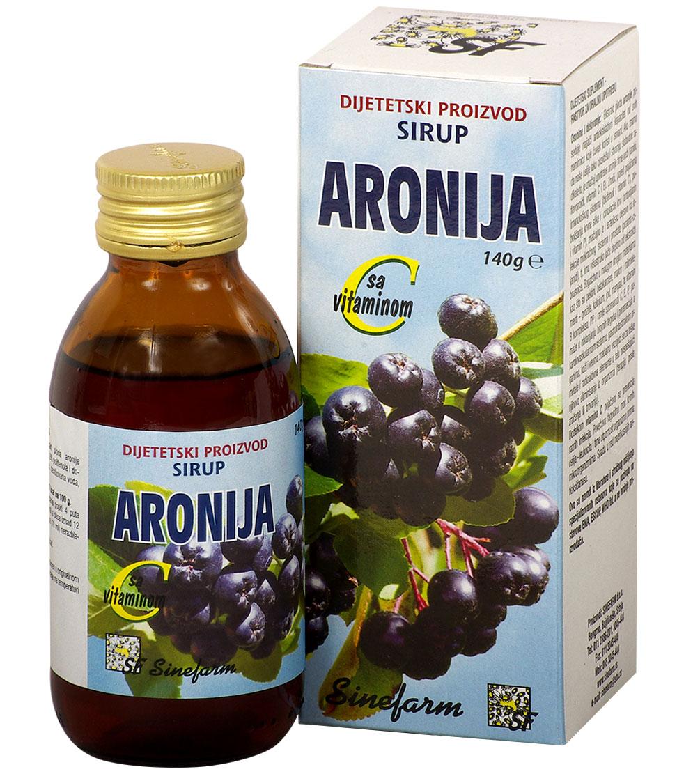 Sirup od aronije sa C vitaminom-140 g-e