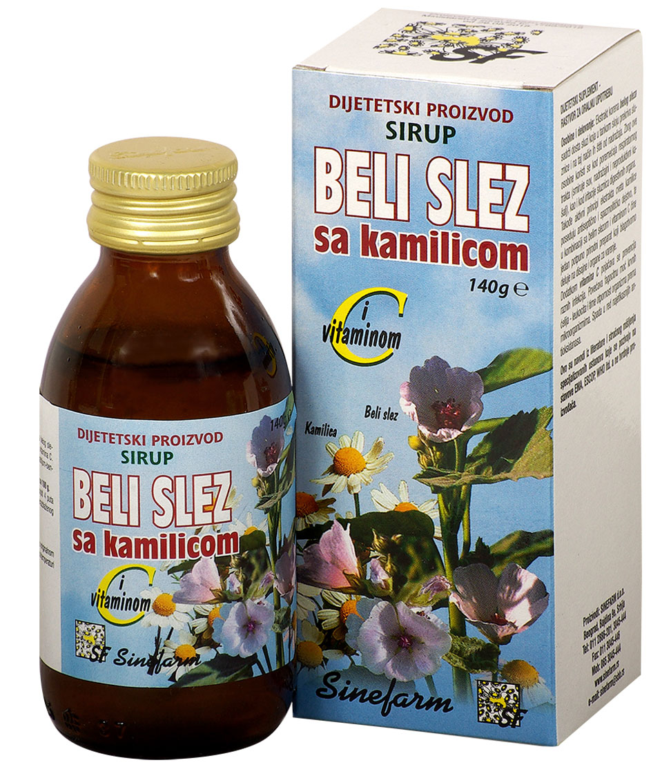 Sirup od belog sleza sa kamilicom <br>i C vitaminom-140 g-e