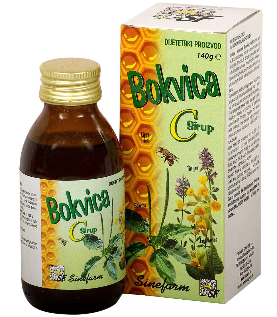 Sirup od bokvice sa timijanom, jagorčevinom <br>i C vitaminom-140 g-e