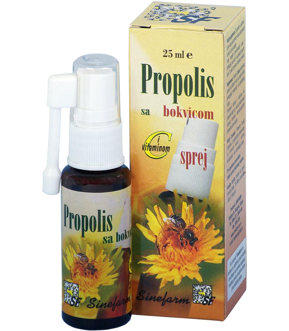 Propolis sprej sa bokvicom i C vitaminom<br>-25 ml-e