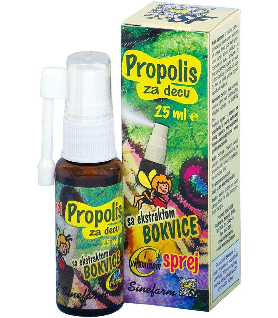 Propolis sprej za decu sa bokvicom <br>i C vitaminom-25 ml-e