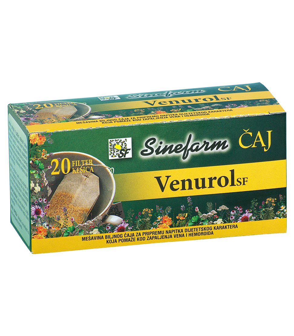Čaj protiv zapaljenja vena -30 g-e filter kesice-VENUROL