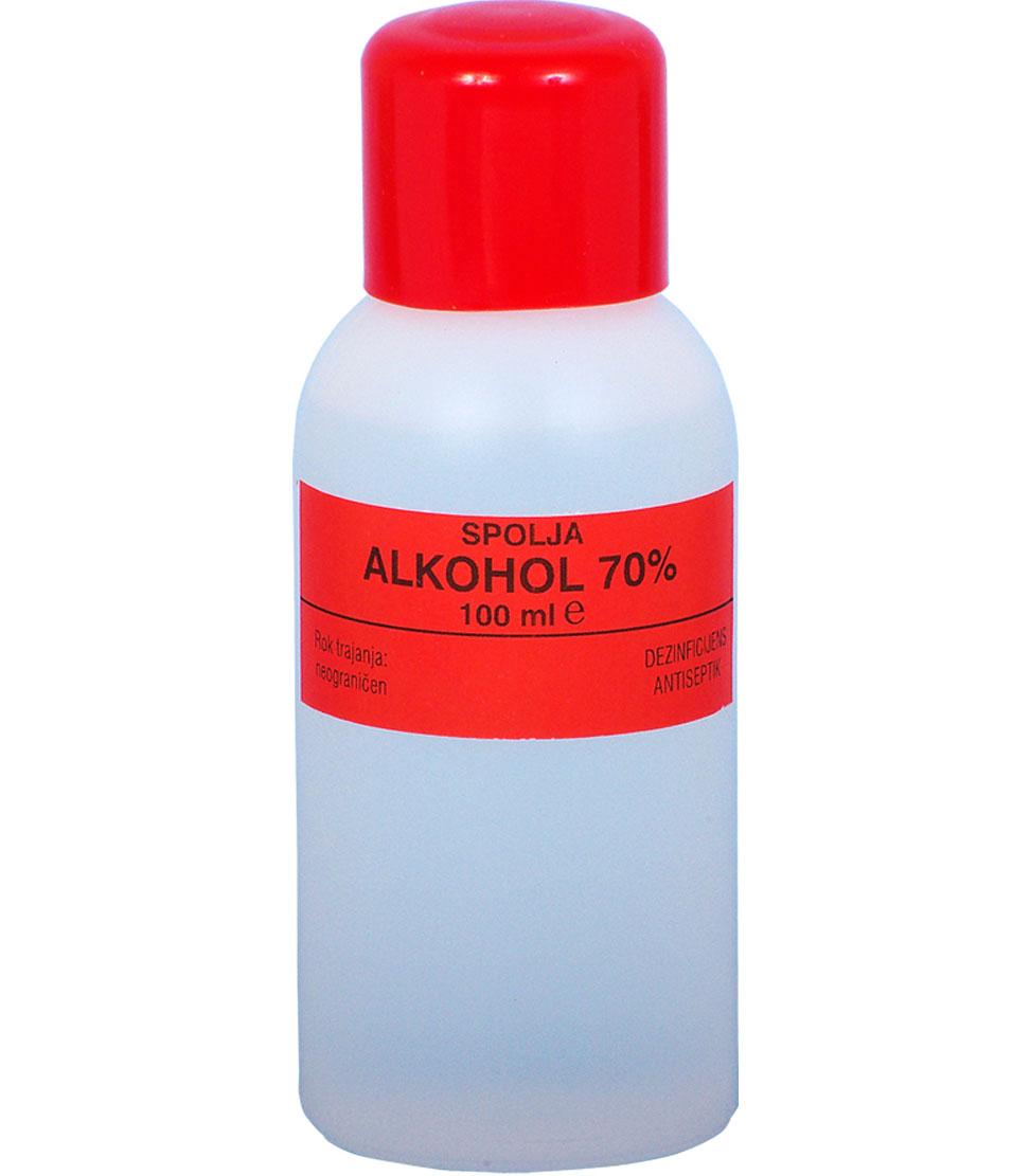 Alkohol 70%-100 ml-e