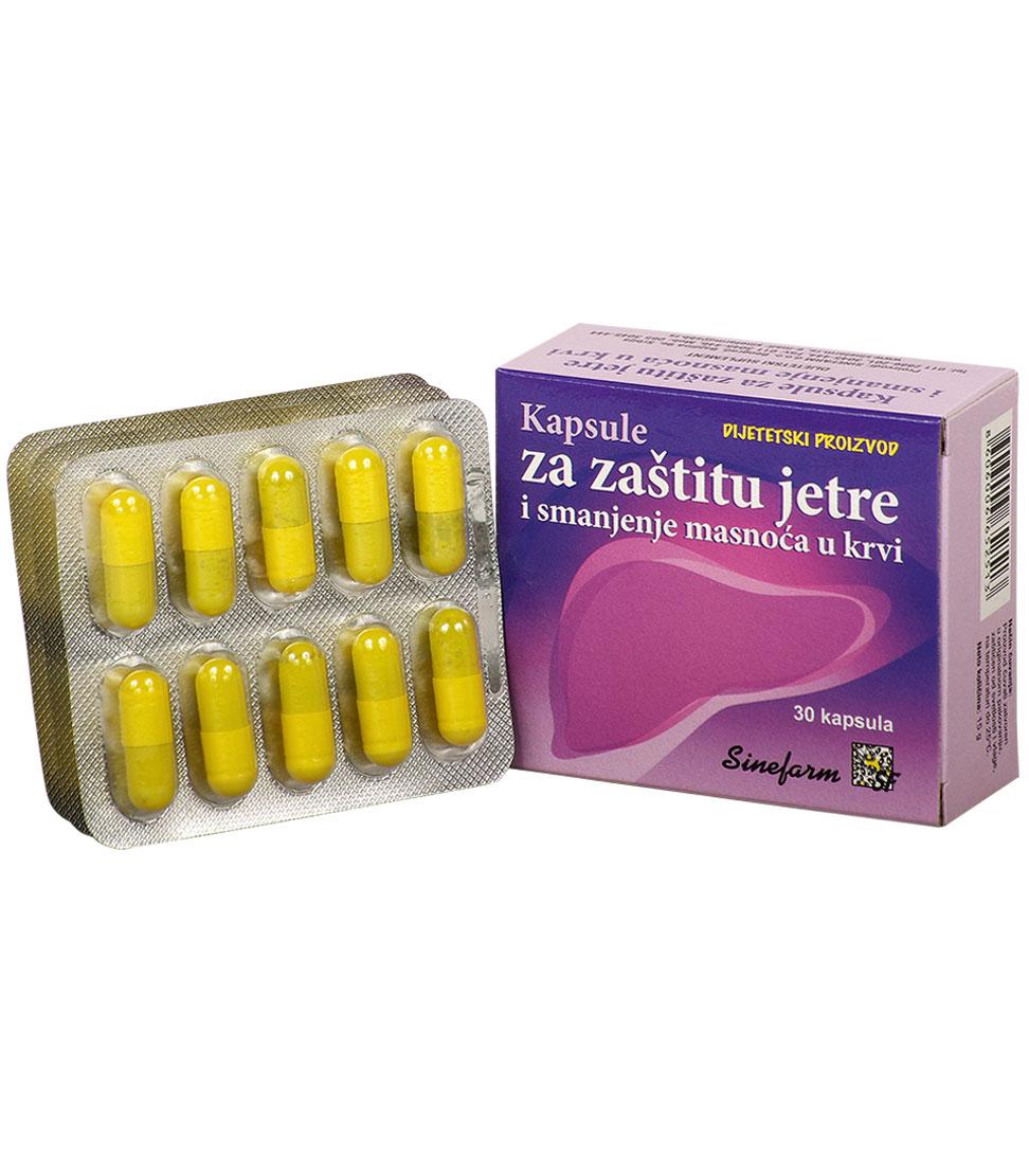 Kapsule za zaštitu jetre i smanjenje masnoća <br>u krvi-30 kom.
