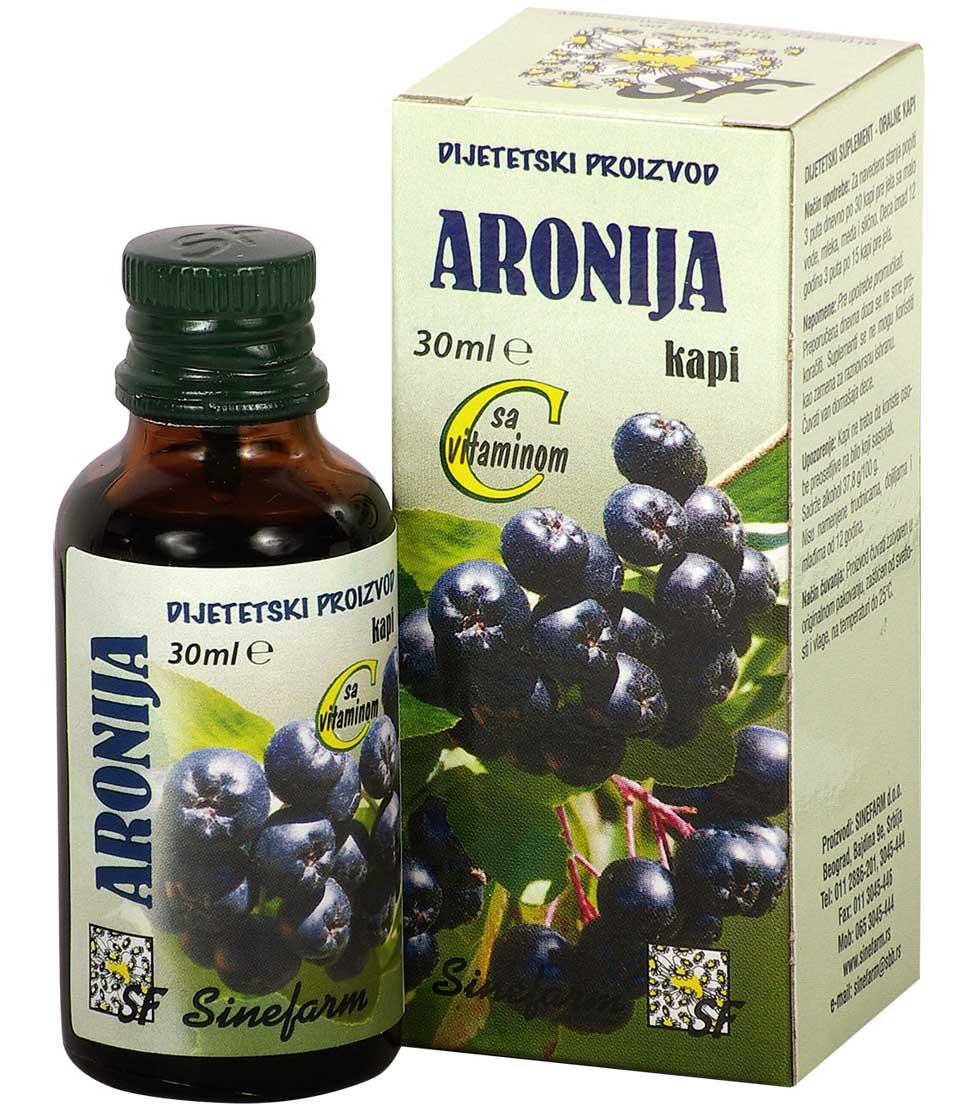 Kapi od aronije sa C vitaminom-30 ml-e