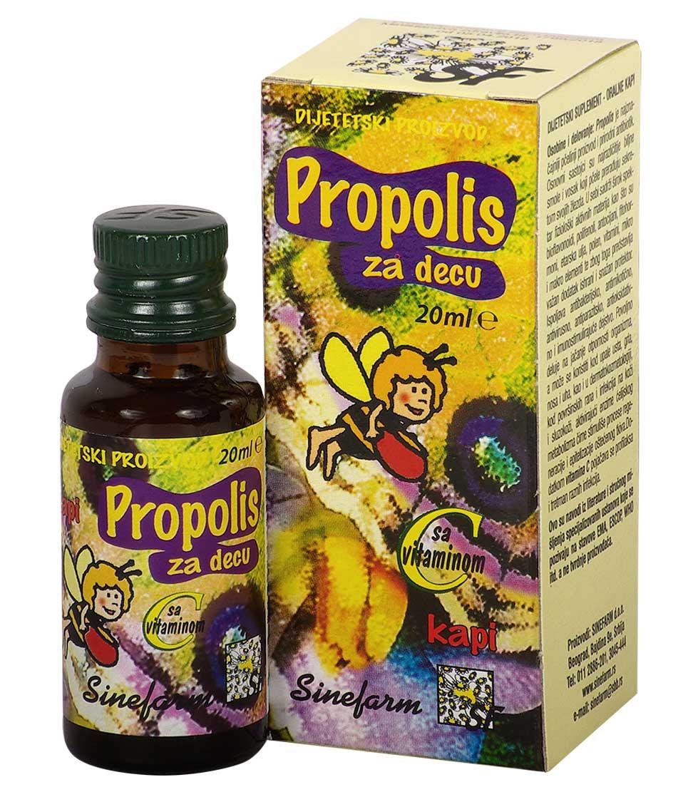 Propolis kapi za decu sa C vitaminom<br>-20 ml-e