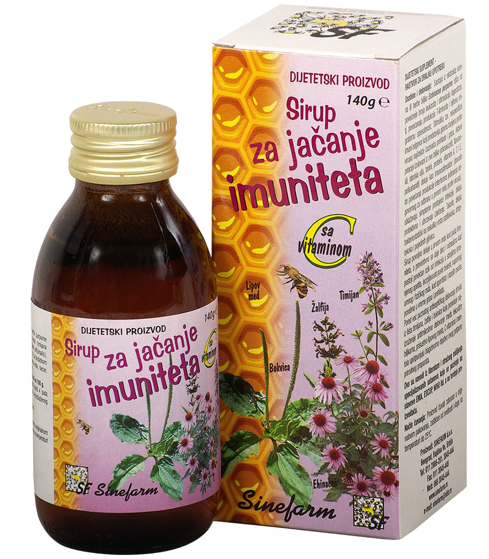 Sirup za jačanje imuniteta sa C vitaminom<br>-140 g-e