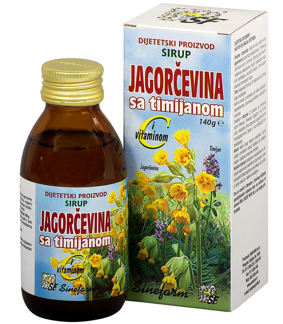 Sirup od jagorčevine sa timijanom <br>i C vitaminom-140 g-e