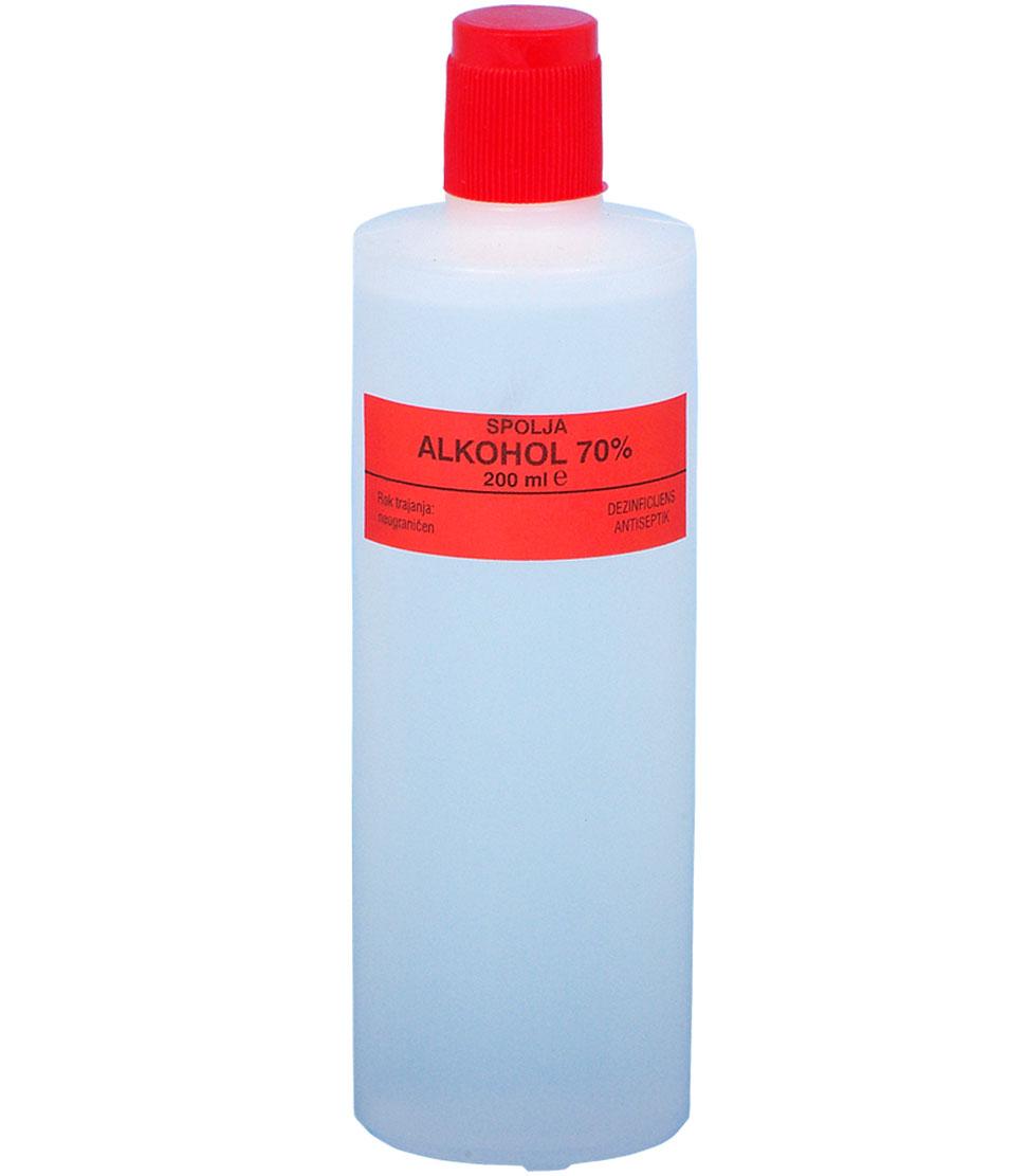 Alkohol 70%-200 ml-e