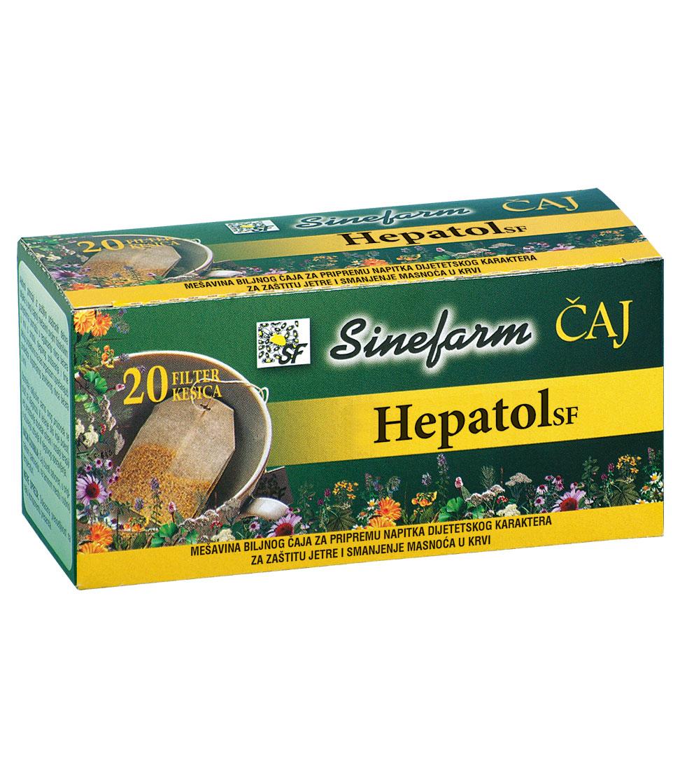 Čaj za zaštitu jetre i smanjenje masnoća u krvi<br>-30 g-e filter kesice-HEPATOL