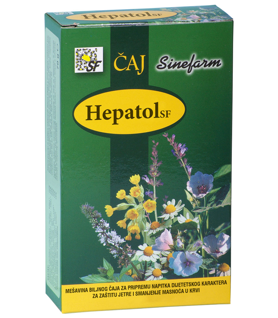 Čaj za zaštitu jetre i smanjenje masnoća u krvi<br>-70 g-e rinfuz-HEPATOL