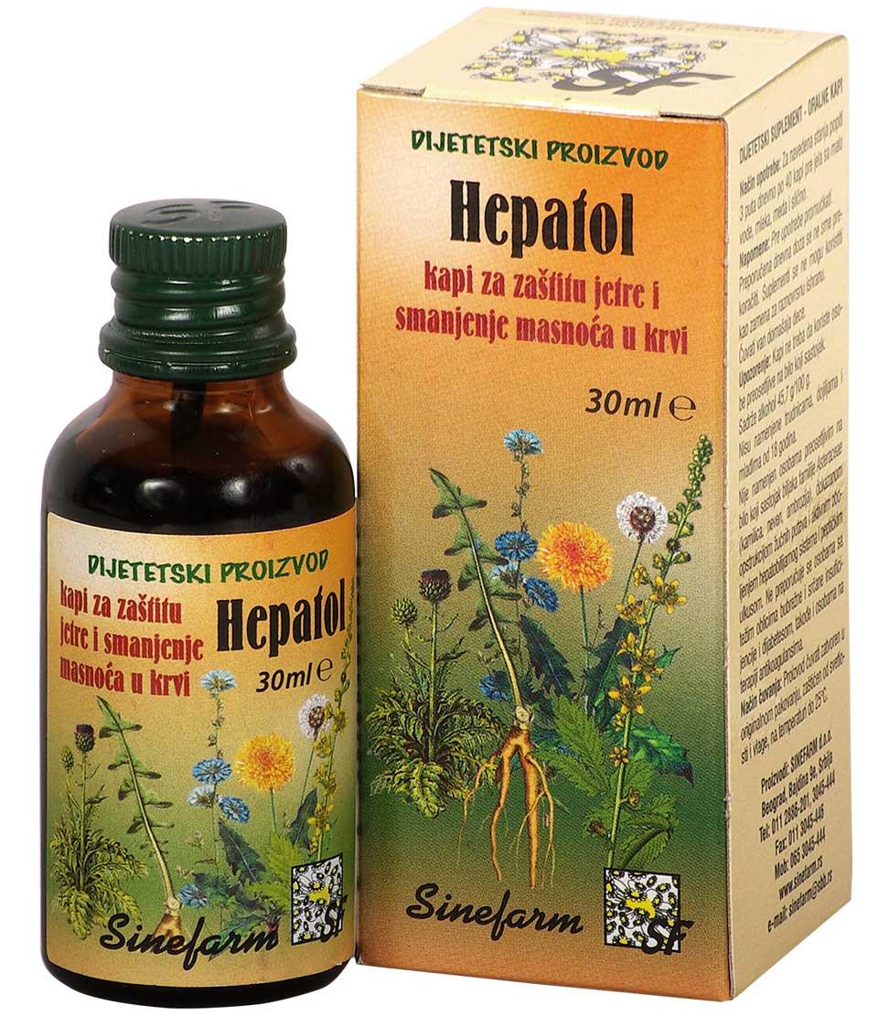 Kapi za zaštitu jetre i smanjenje masnoća u krvi-HEPATOL